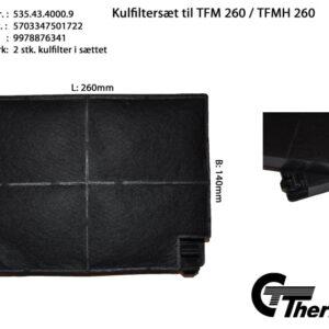 Thermex Kolfilter till TFM260 2-pack