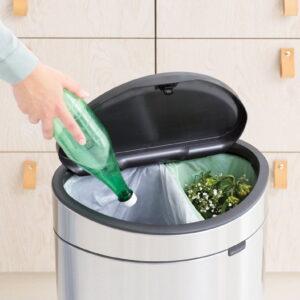 Golvstående Sophink Brabantia Touch Bin Recycle 10+23 liter