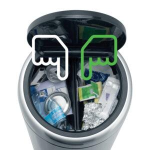Golvstående Sophink Brabantia Touch Bin Recycle 2x20 liter
