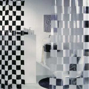 Duschdraperi Spirella Matto black 180x200 cm