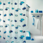 Duschdraperi Spirella Hugo blue 180×200 cm