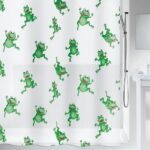 Duschdraperi Spirella Frogtime green 180×200 cm