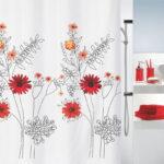 Duschdraperi Spirella Alessia red 180×200 cm