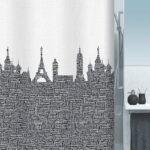 Duschdraperi Urban black 180×200 cm