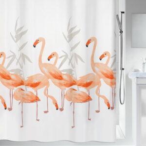Duschdraperi Spirella Flamingo salmon 180x200 cm