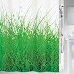 Duschdraperi Spirella Grass green 180×200 cm