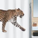 Duschdraperi Spirella Leopard beige-black 180×200 cm