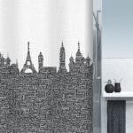 Duschdraperi Urban black 240×200 cm