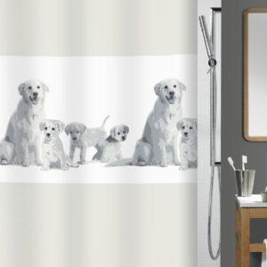 Duschdraperi Spirella Family grey 180x200 cm