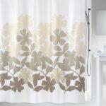 Duschdraperi Spirella Fleury taupe-beige 180×200 cm