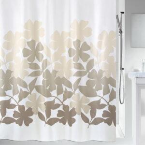 Duschdraperi Spirella Fleury taupe-beige 180x200 cm