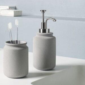 Tandborstmugg Cement grey
