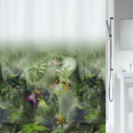Duschdraperi Spirella Jungle green 180×200 cm