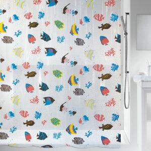 Duschdraperi Spirella Fish multicolor 180x200 cm