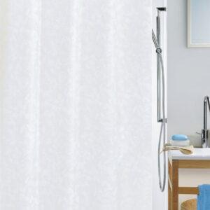 Duschdraperi Spirella Porto white 180x200 cm