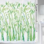 Duschdraperi Spirella Bambus green 180×200 cm