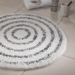 Badrumsmatta Spirella Saturn white/black 60 cm rund