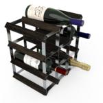 Vinställ Utbyggbart Vinförvaring RTA Traditional 12 Flaskor 3×3 Svart ask/ Galvaniserat stål