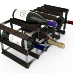 Vinställ Utbyggbart Vinförvaring RTA Traditional 15 Flaskor 5×2 Svart ask / Galvaniserat stål