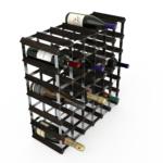 Vinställ Utbyggbart Vinförvaring RTA Traditional 42 Flaskor 6×6 Svart ask/ Galvaniserat stål