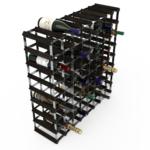 Vinställ Utbyggbart Vinförvaring RTA Traditional 72 Flaskor 8×8 Svart ask/ Galvaniserat stål