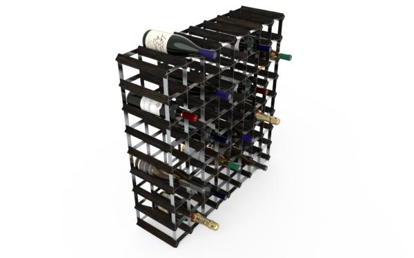72 Flaskor 8x8 Svart ask/ Galvaniserat stål