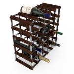Vinställ Utbyggbart Vinförvaring RTA Traditional 30 Flaskor 5×5 Mörkt trä/ Galvaniserat stål