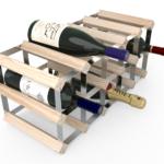 Vinställ Utbyggbart Vinförvaring RTA Traditional 15 Flaskor 5×2 Natur / Galvaniserat stål