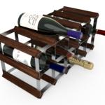 Vinställ Utbyggbart Vinförvaring RTA Traditional 15 Flaskor 5×2 mörkt trä / Galvaniserat stål