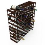 Vinställ Utbyggbart Vinförvaring RTA Traditional 72 Flaskor 8×8 Mörkfärgat / Galvaniserat stål