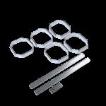 Clips för sammanfogning av vinställ RTA Traditional 5 st galvaniserade clips sammanfogningssystem
