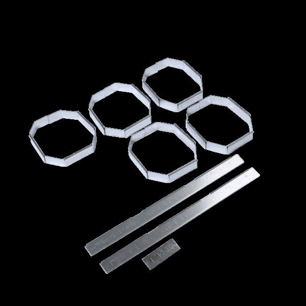5 st galvaniserade clips sammanfogningssystem