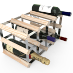 Vinställ Utbyggbart Vinförvaring RTA Traditional 12 Flaskor 4×2 Natur / Galvaniserat stål