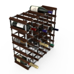 Vinställ Utbyggbart Vinförvaring RTA Traditional 42 Flaskor 6×6 Mörkfärgat / Galvaniserat stål