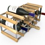 Vinställ Utbyggbart Vinförvaring RTA Traditional 15 Flaskor 5×2 Ljus ek / Galvaniserat stål