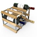 Vinställ Utbyggbart Vinförvaring RTA Traditional 9 Flaskor 3×2 Ljus ek / Galvaniserat stål