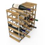 Vinställ Utbyggbart Vinförvaring RTA Traditional 30 Flaskor 5×5 Ljus ek/ Galvaniserat stål