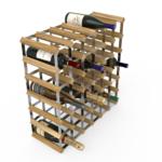 Vinställ Utbyggbart Vinförvaring RTA Traditional 42 Flaskor 6×6 Ljus ek/ Galvaniserat stål
