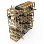 Vinställ Utbyggbart Vinförvaring RTA Traditional 72 Flaskor 8×8 Ljus ek/ Galvaniserat stål